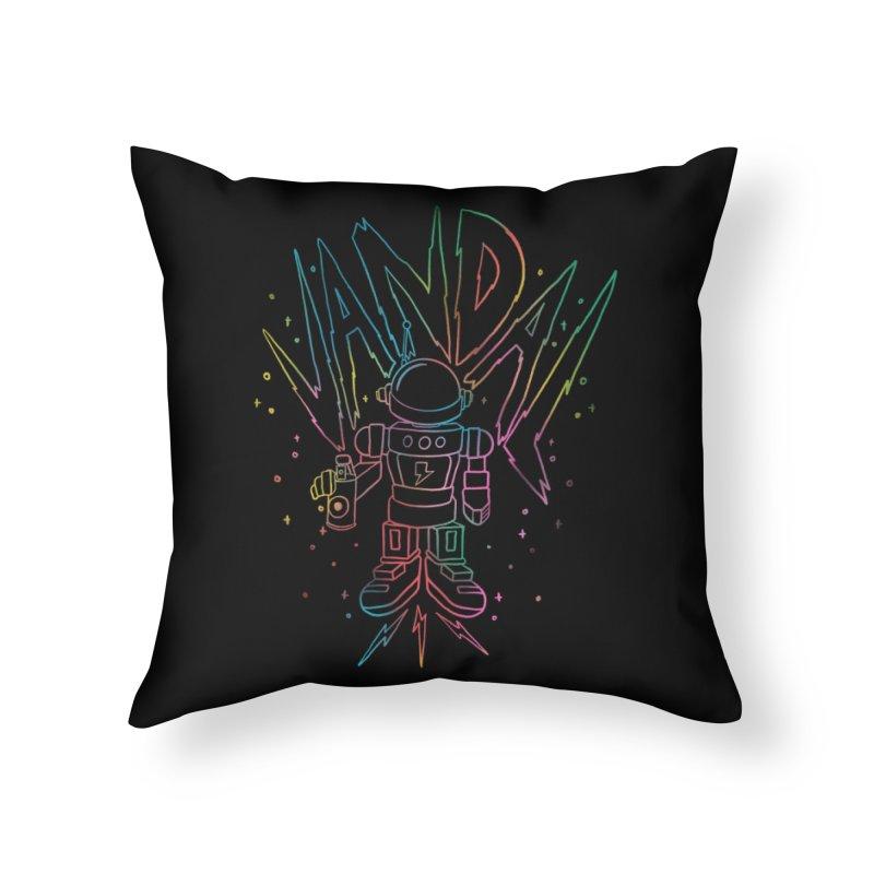 Neon Vandal Home Throw Pillow by RJ Artworks's Artist Shop