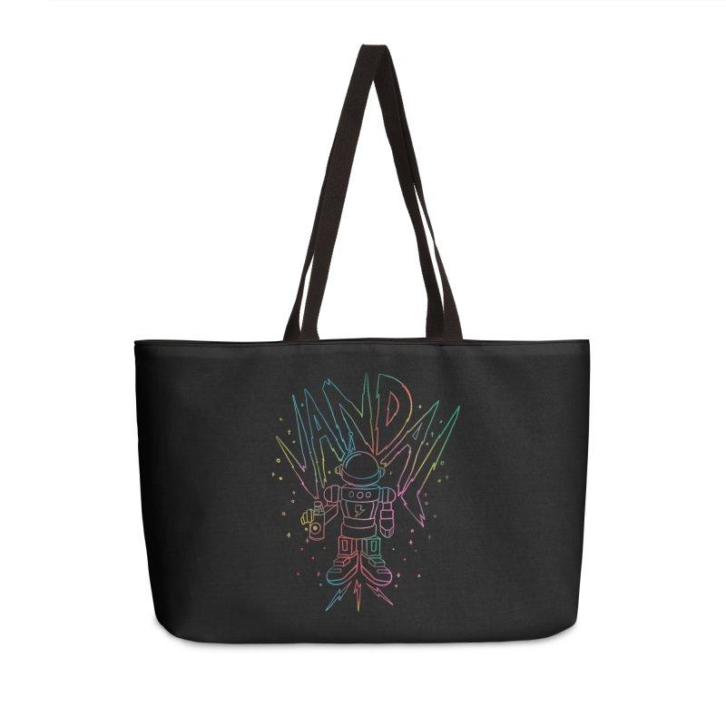 Neon Vandal Accessories Weekender Bag Bag by RJ Artworks's Artist Shop