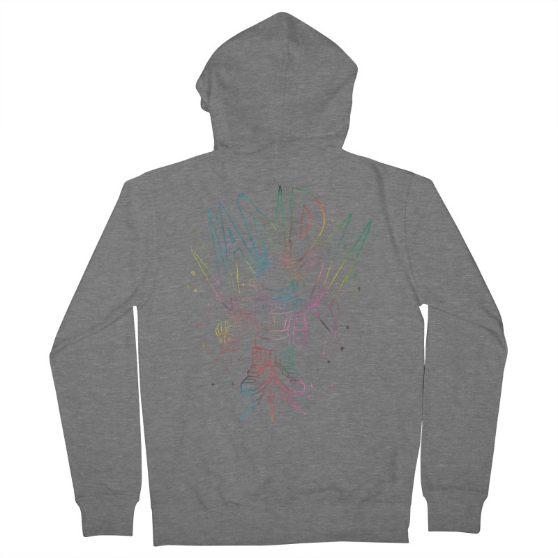 Neon Vandal Men's French Terry Zip-Up Hoody by RJ Artworks's Artist Shop