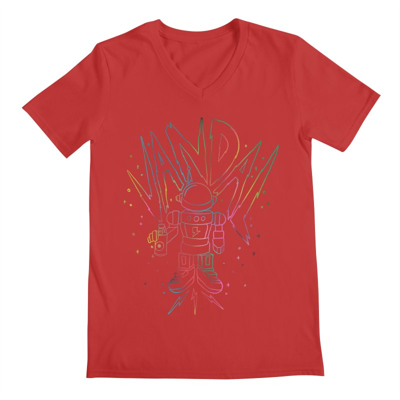 Neon Vandal Men's Regular V-Neck by RJ Artworks's Artist Shop