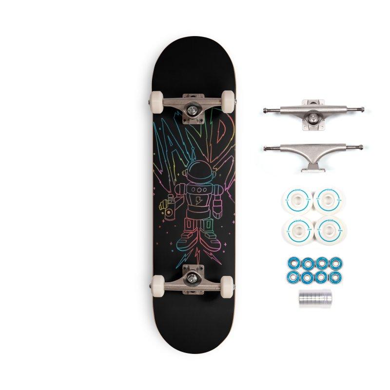 Neon Vandal Accessories Complete - Basic Skateboard by RJ Artworks's Artist Shop