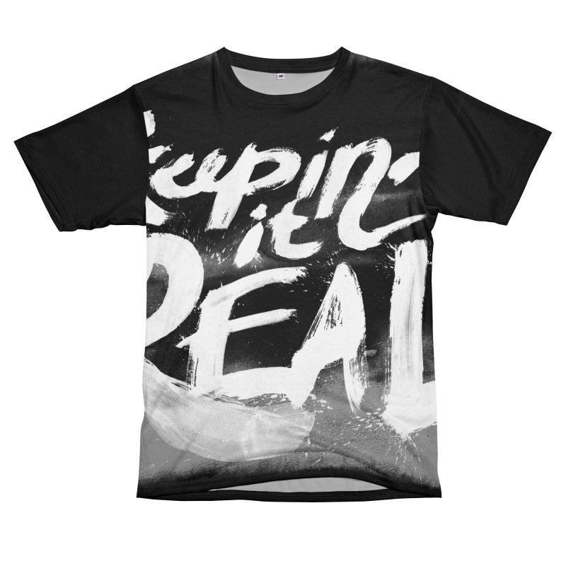 Keepin' it Real - Black & White Men's T-Shirt Cut & Sew by RJ Artworks's Artist Shop