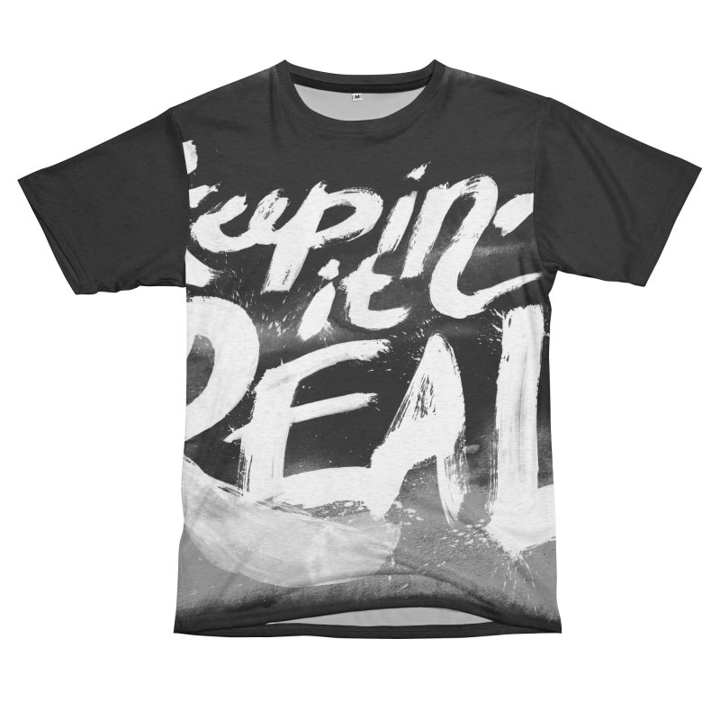 Keepin' it Real - Black & White Women's Unisex French Terry T-Shirt Cut & Sew by RJ Artworks's Artist Shop