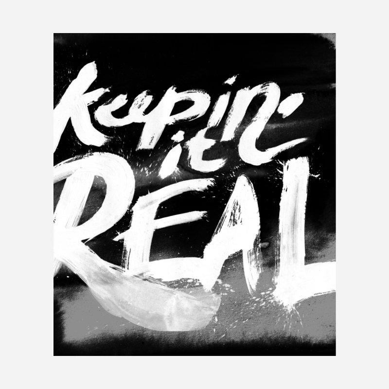 Keepin' it Real - Black & White Women's Longsleeve T-Shirt by RJ Artworks's Artist Shop