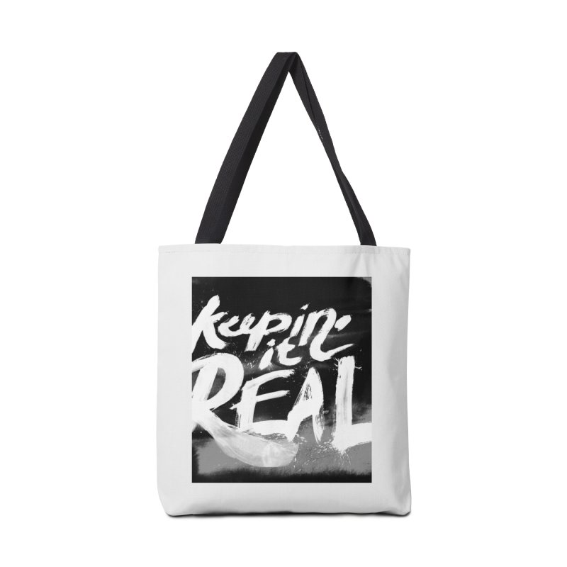Keepin' it Real - Black & White Accessories Tote Bag Bag by RJ Artworks's Artist Shop