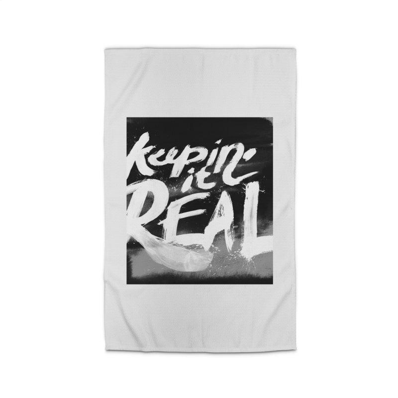 Keepin' it Real - Black & White Home Rug by RJ Artworks's Artist Shop