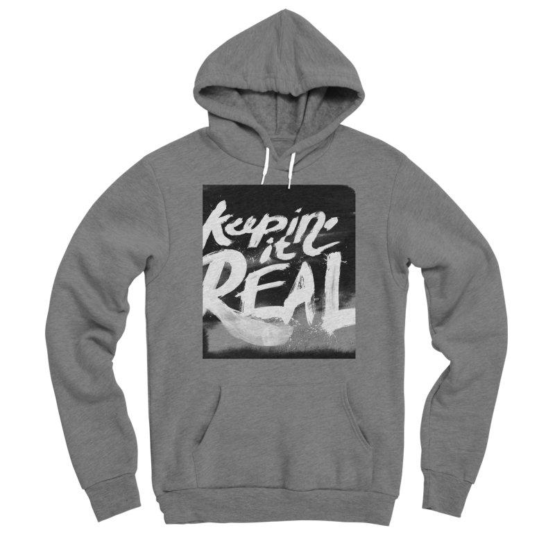 Keepin' it Real - Black & White Men's Sponge Fleece Pullover Hoody by RJ Artworks's Artist Shop