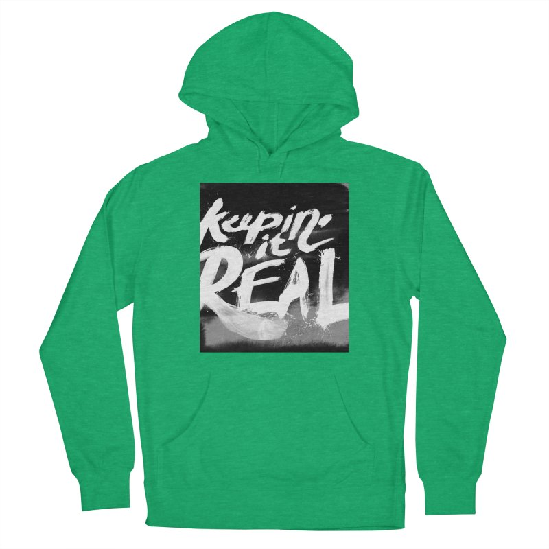 Keepin' it Real - Black & White Men's French Terry Pullover Hoody by RJ Artworks's Artist Shop