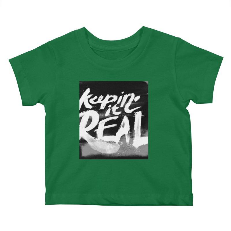 Keepin' it Real - Black & White Kids Baby T-Shirt by RJ Artworks's Artist Shop