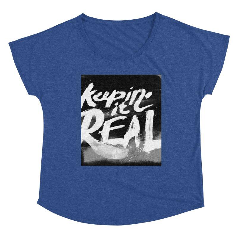 Keepin' it Real - Black & White Women's Dolman Scoop Neck by RJ Artworks's Artist Shop