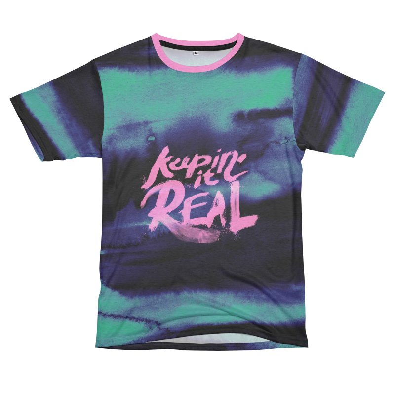 Keepin' it Real - Teal Women's Unisex French Terry T-Shirt Cut & Sew by RJ Artworks's Artist Shop