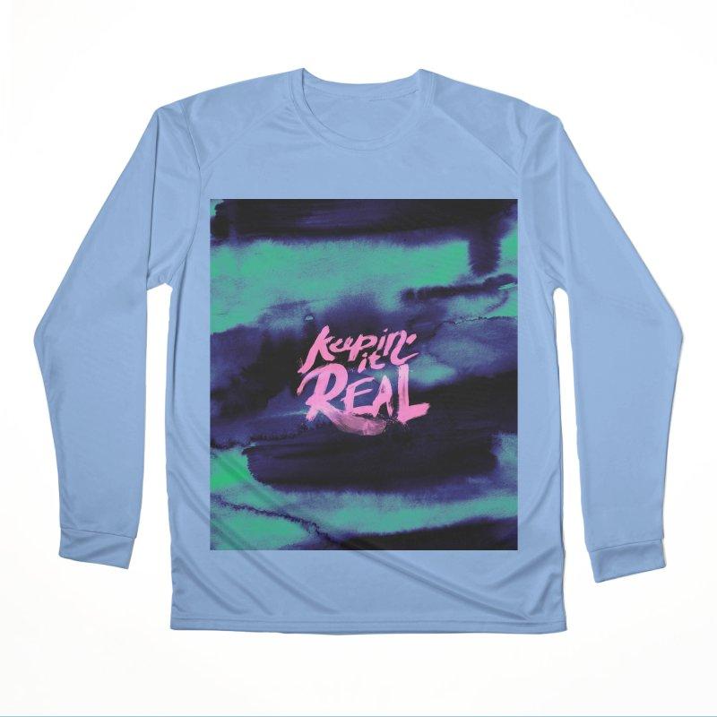 Keepin' it Real - Teal Women's Longsleeve T-Shirt by RJ Artworks's Artist Shop