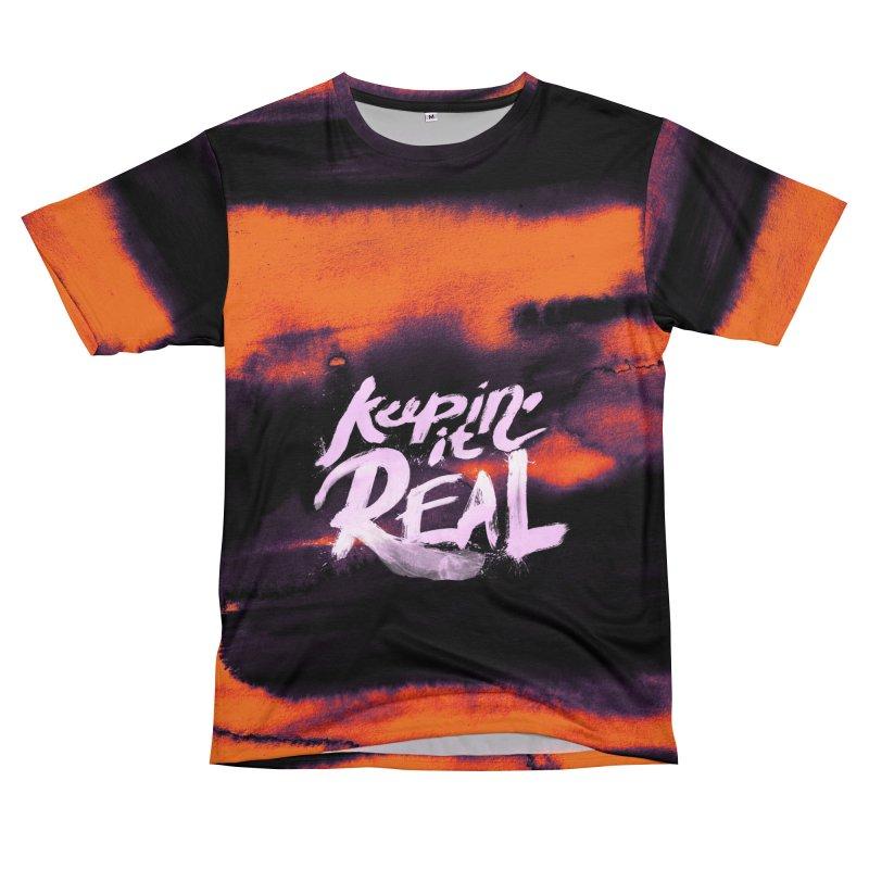 Keepin' it Real - Orange Men's T-Shirt Cut & Sew by RJ Artworks's Artist Shop