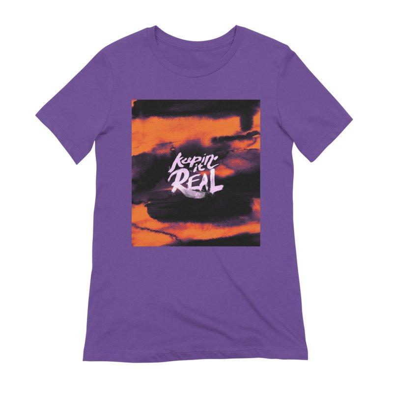Keepin' it Real - Orange Women's Extra Soft T-Shirt by RJ Artworks's Artist Shop