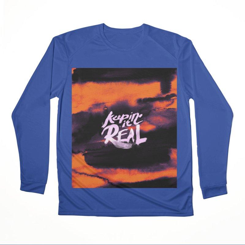 Keepin' it Real - Orange Women's Performance Unisex Longsleeve T-Shirt by RJ Artworks's Artist Shop