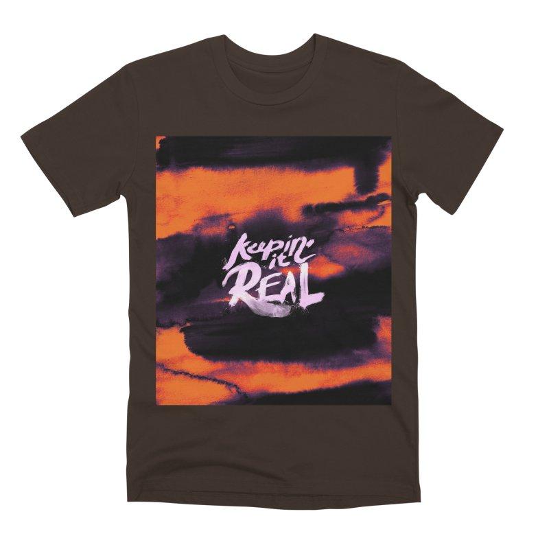 Keepin' it Real - Orange Men's Premium T-Shirt by RJ Artworks's Artist Shop