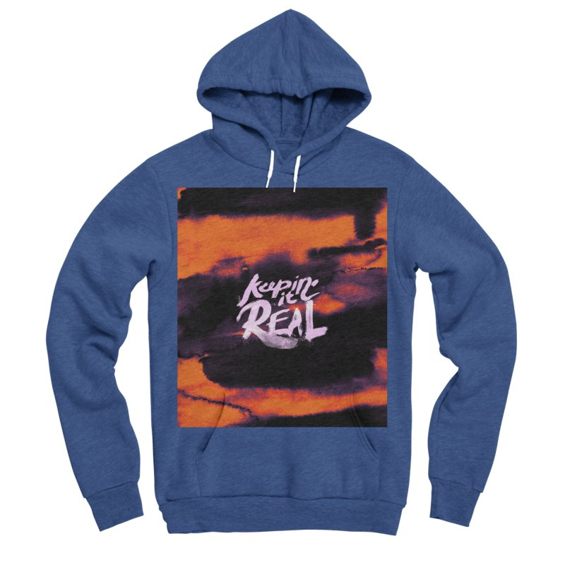 Keepin' it Real - Orange Men's Sponge Fleece Pullover Hoody by RJ Artworks's Artist Shop