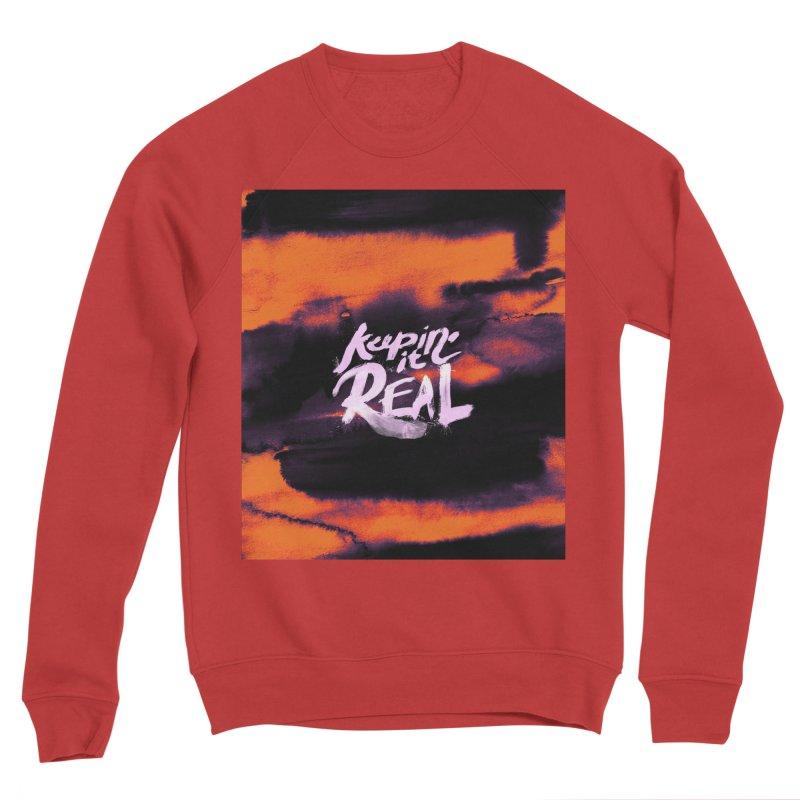 Keepin' it Real - Orange Women's Sponge Fleece Sweatshirt by RJ Artworks's Artist Shop