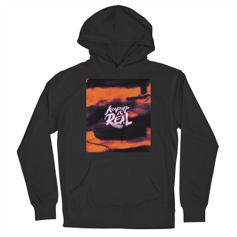Keepin' it Real - Orange Men's French Terry Pullover Hoody by RJ Artworks's Artist Shop