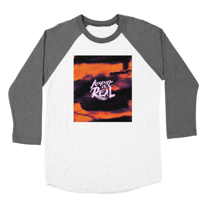 Keepin' it Real - Orange Women's Baseball Triblend Longsleeve T-Shirt by RJ Artworks's Artist Shop