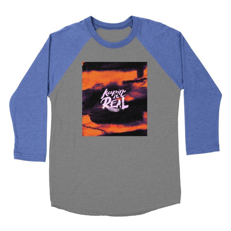 Keepin' it Real - Orange Men's Baseball Triblend Longsleeve T-Shirt by RJ Artworks's Artist Shop