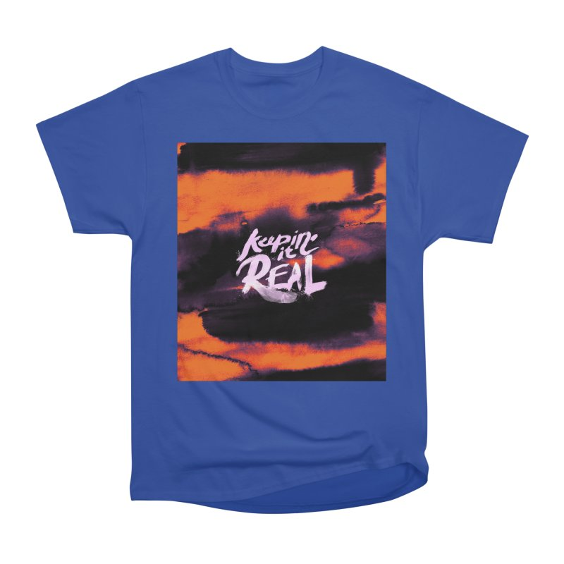 Keepin' it Real - Orange Women's Heavyweight Unisex T-Shirt by RJ Artworks's Artist Shop