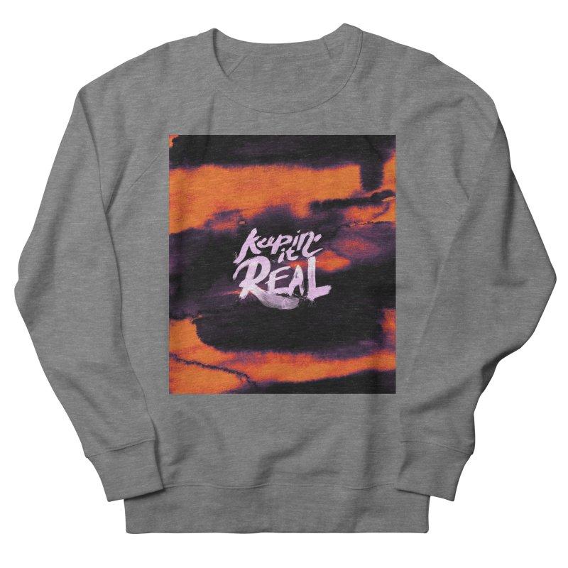 Keepin' it Real - Orange Women's French Terry Sweatshirt by RJ Artworks's Artist Shop