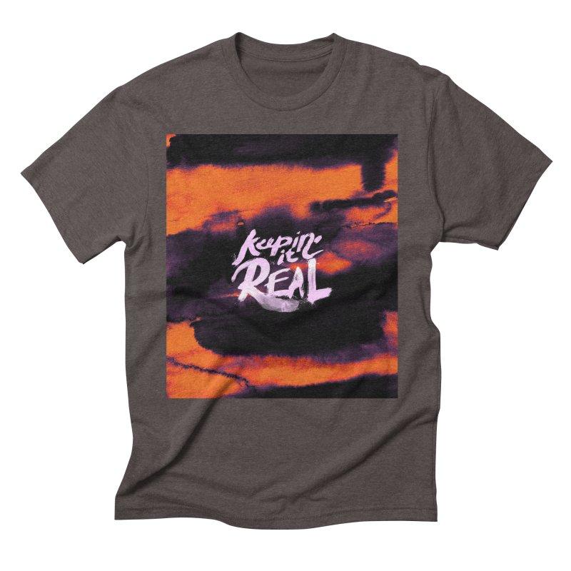 Keepin' it Real - Orange Men's Triblend T-Shirt by RJ Artworks's Artist Shop