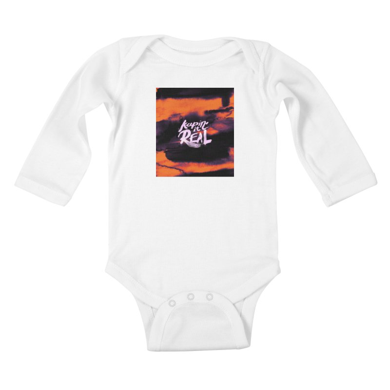 Keepin' it Real - Orange Kids Baby Longsleeve Bodysuit by RJ Artworks's Artist Shop