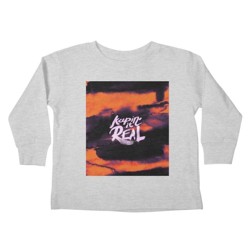 Keepin' it Real - Orange Kids Toddler Longsleeve T-Shirt by RJ Artworks's Artist Shop