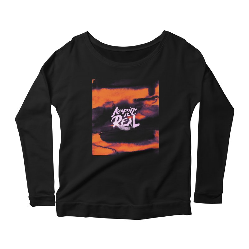 Keepin' it Real - Orange Women's Scoop Neck Longsleeve T-Shirt by RJ Artworks's Artist Shop