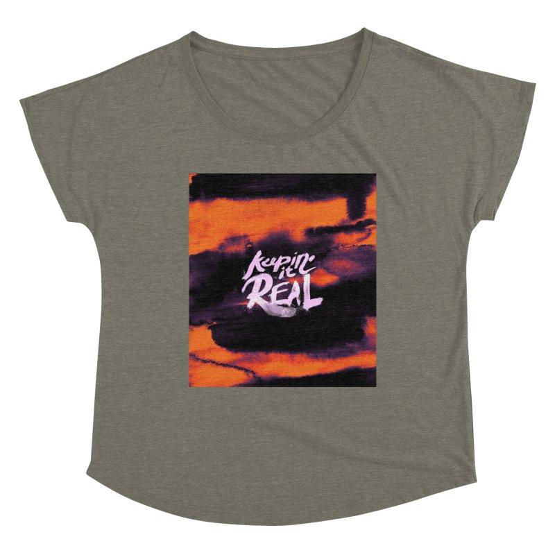 Keepin' it Real - Orange Women's Dolman Scoop Neck by RJ Artworks's Artist Shop