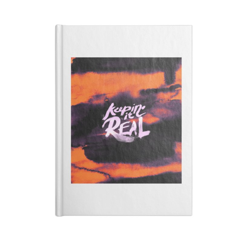 Keepin' it Real - Orange Accessories Lined Journal Notebook by RJ Artworks's Artist Shop