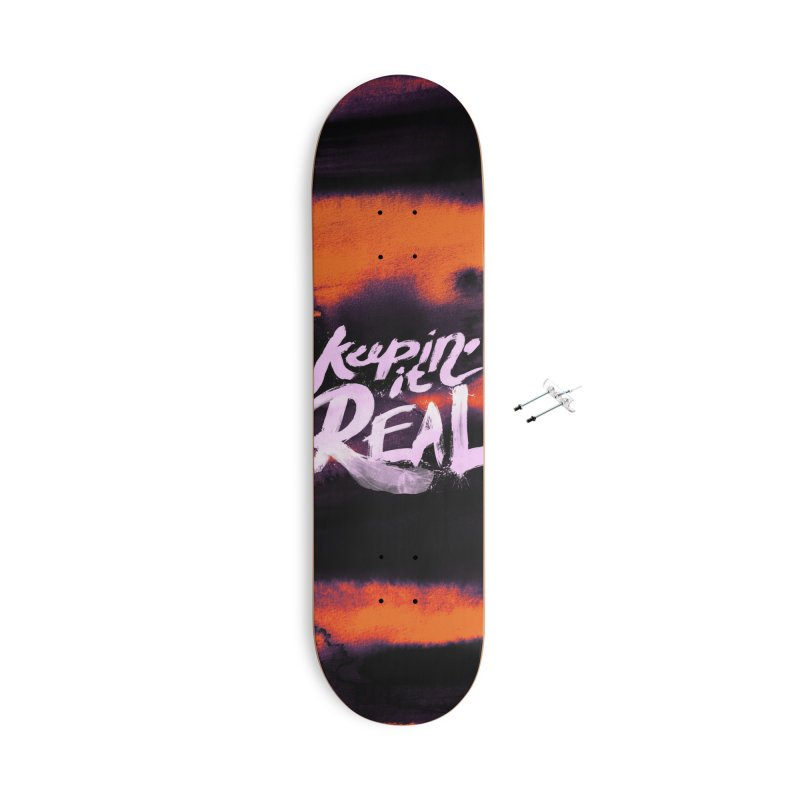 Keepin' it Real - Orange Accessories With Hanging Hardware Skateboard by RJ Artworks's Artist Shop