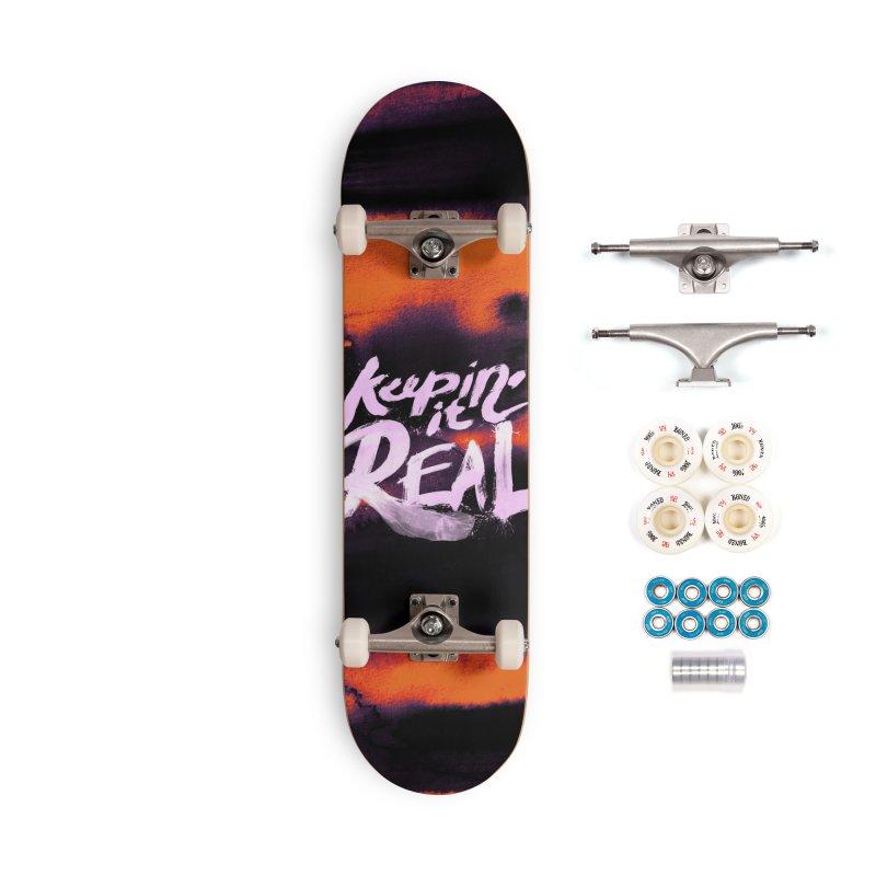 Keepin' it Real - Orange Accessories Complete - Premium Skateboard by RJ Artworks's Artist Shop