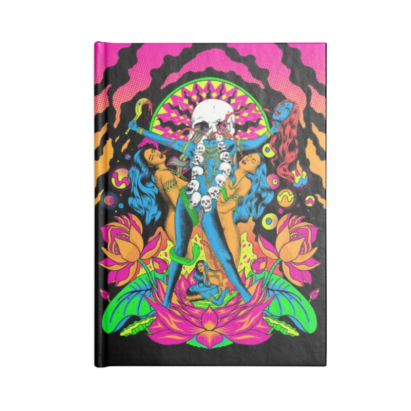 Metal Goddess Accessories Lined Journal Notebook by RJ Artworks's Artist Shop