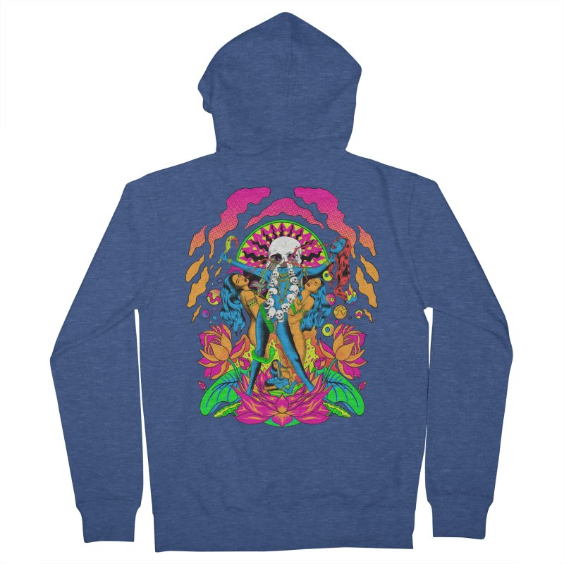 Metal Goddess Men's French Terry Zip-Up Hoody by RJ Artworks's Artist Shop