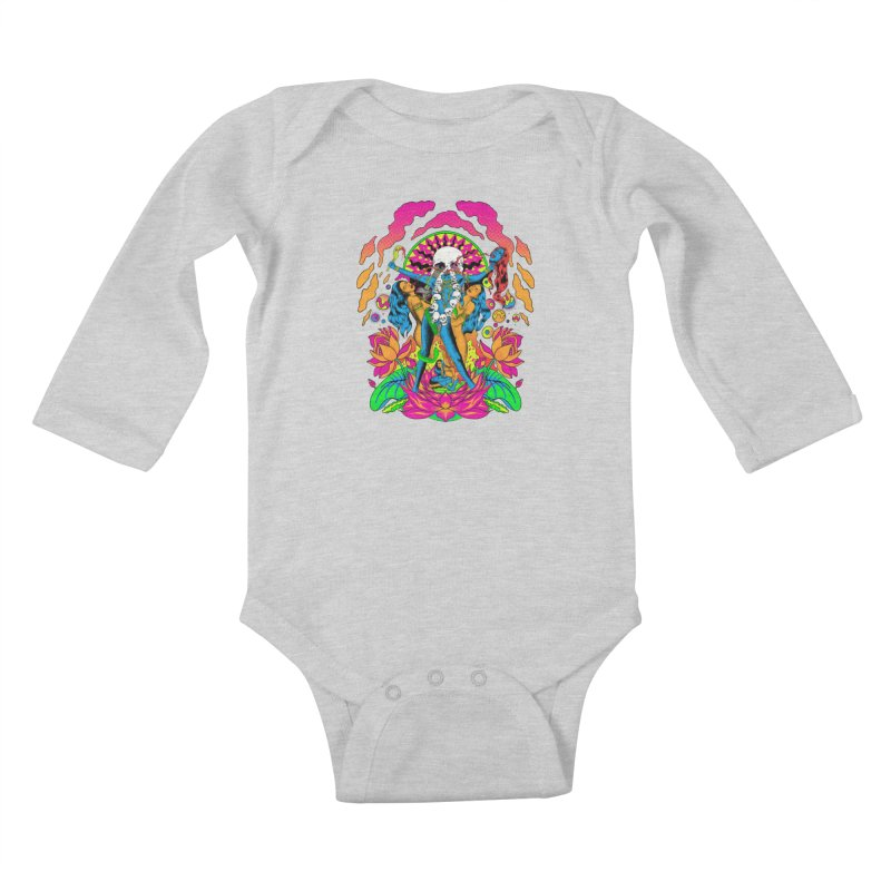 Metal Goddess Kids Baby Longsleeve Bodysuit by RJ Artworks's Artist Shop