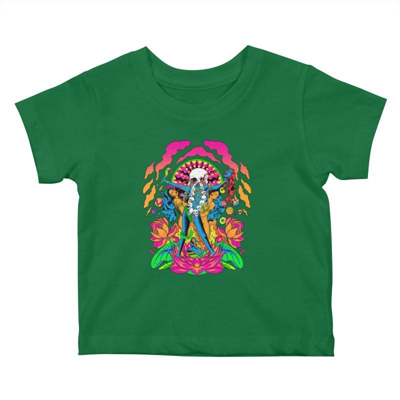 Metal Goddess Kids Baby T-Shirt by RJ Artworks's Artist Shop