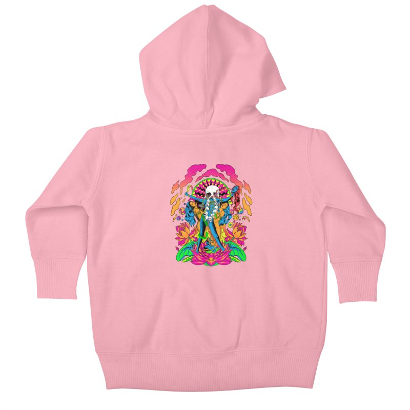 Metal Goddess Kids Baby Zip-Up Hoody by RJ Artworks's Artist Shop