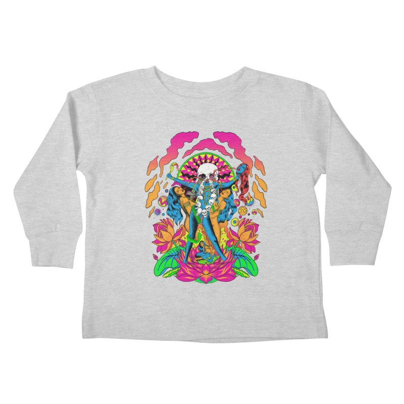 Metal Goddess Kids Toddler Longsleeve T-Shirt by RJ Artworks's Artist Shop