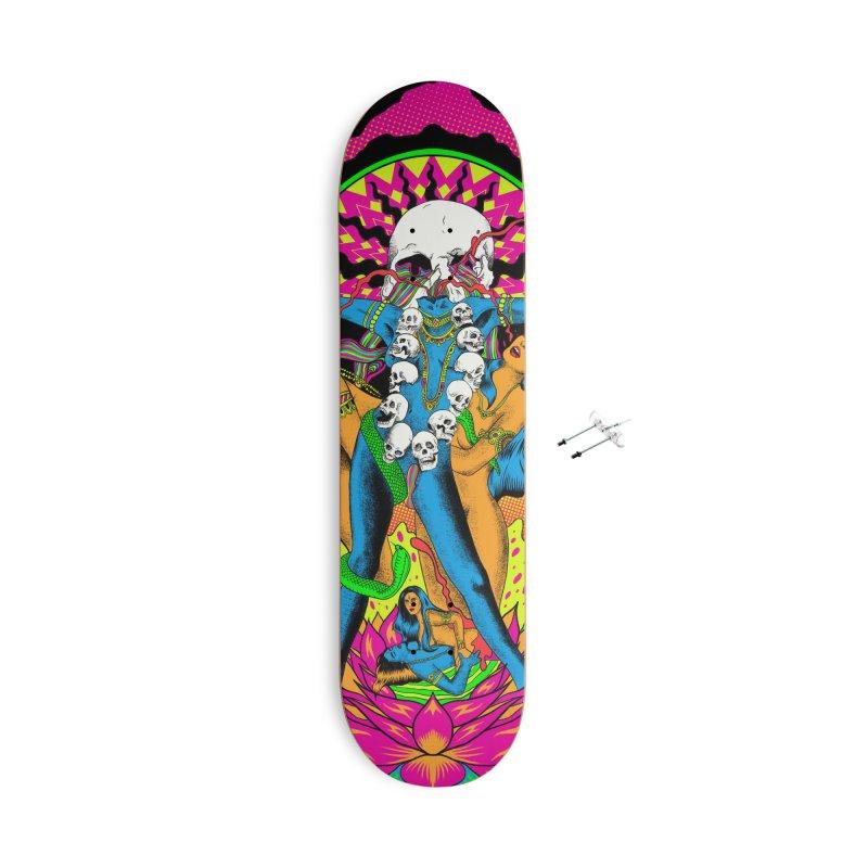 Metal Goddess Accessories With Hanging Hardware Skateboard by RJ Artworks's Artist Shop