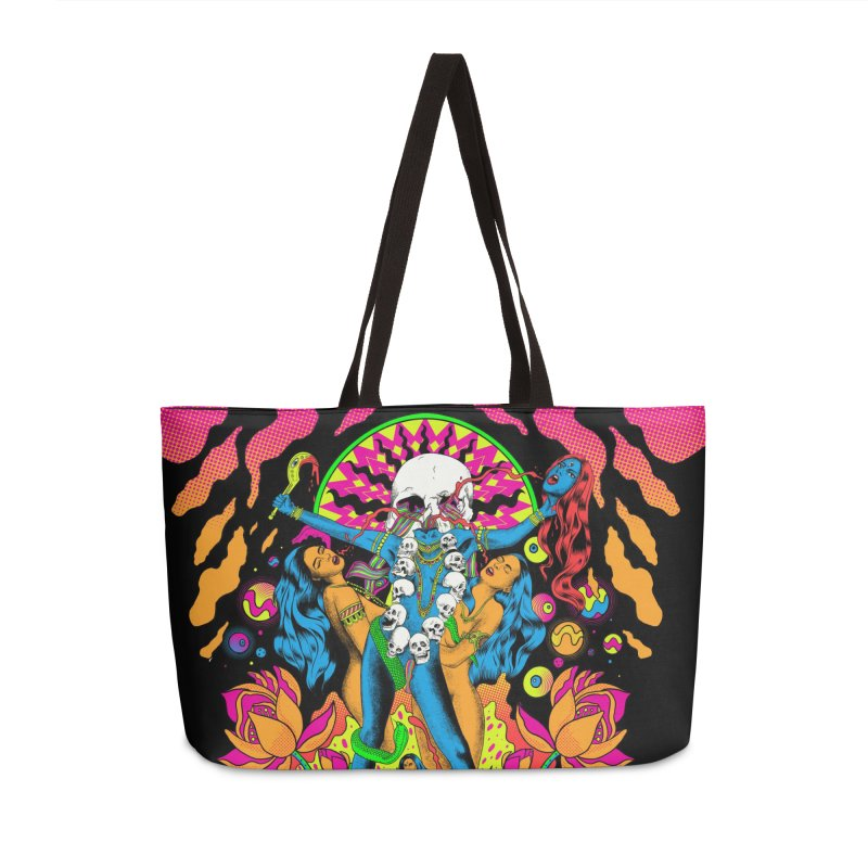 Metal Goddess Accessories Weekender Bag Bag by RJ Artworks's Artist Shop