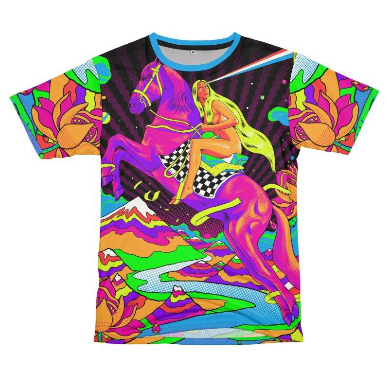 Lady Godiva - Neon Night Men's T-Shirt Cut & Sew by RJ Artworks's Artist Shop