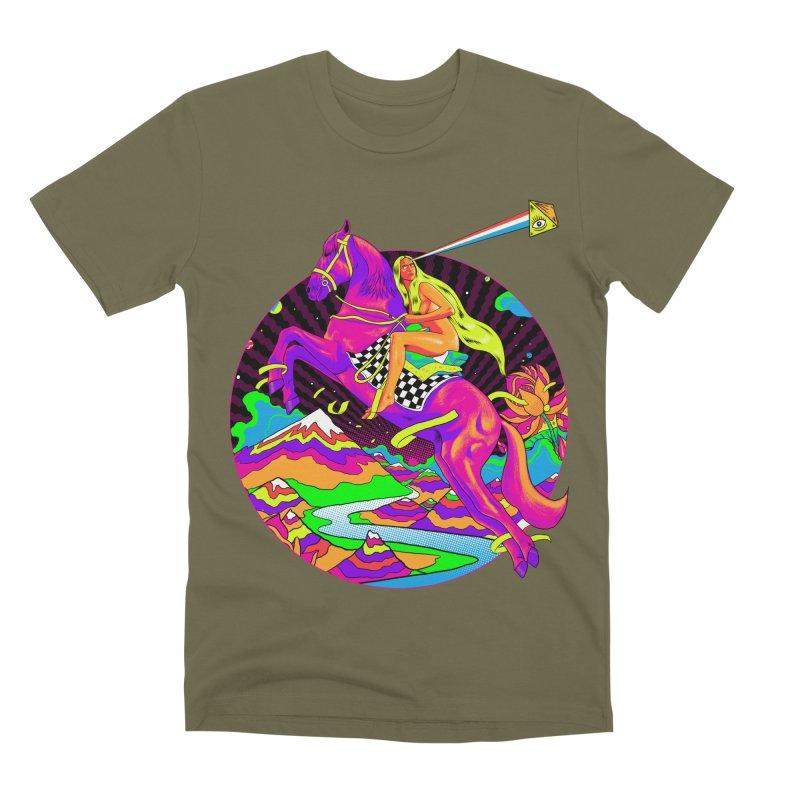 Lady Godiva - Neon Night Men's Premium T-Shirt by RJ Artworks's Artist Shop
