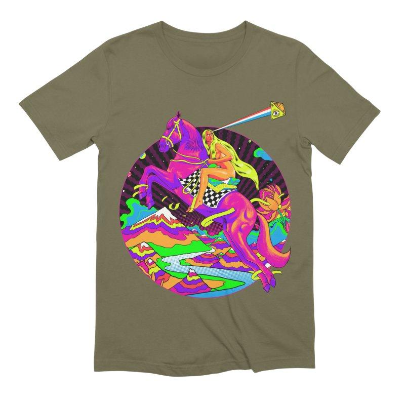 Lady Godiva - Neon Night Men's Extra Soft T-Shirt by RJ Artworks's Artist Shop