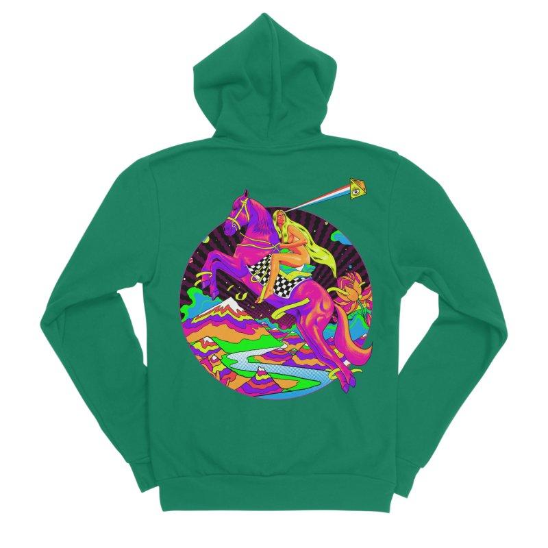 Lady Godiva - Neon Night Men's Sponge Fleece Zip-Up Hoody by RJ Artworks's Artist Shop