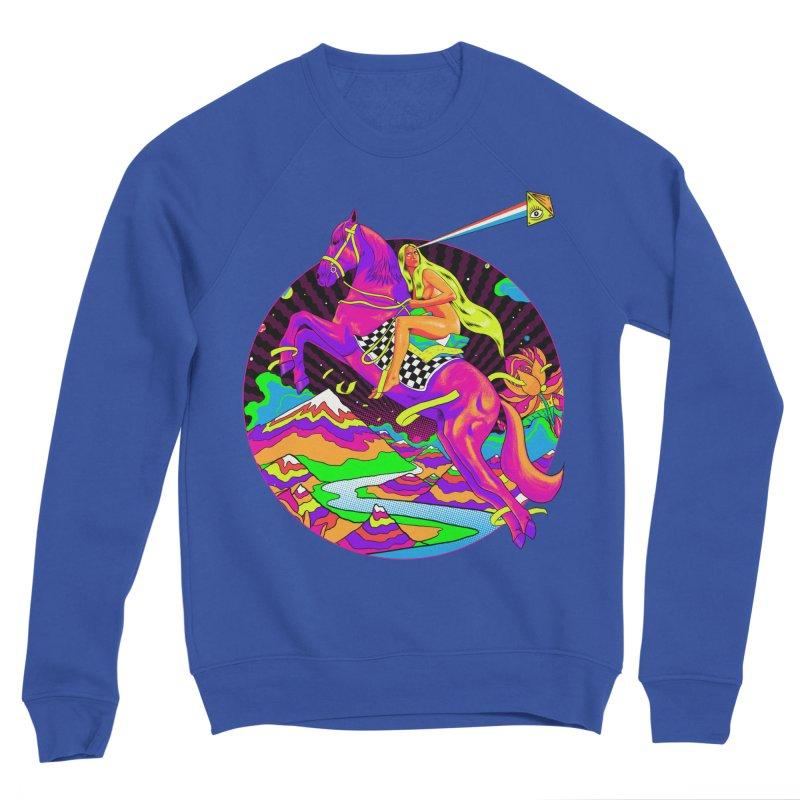 Lady Godiva - Neon Night Women's Sponge Fleece Sweatshirt by RJ Artworks's Artist Shop