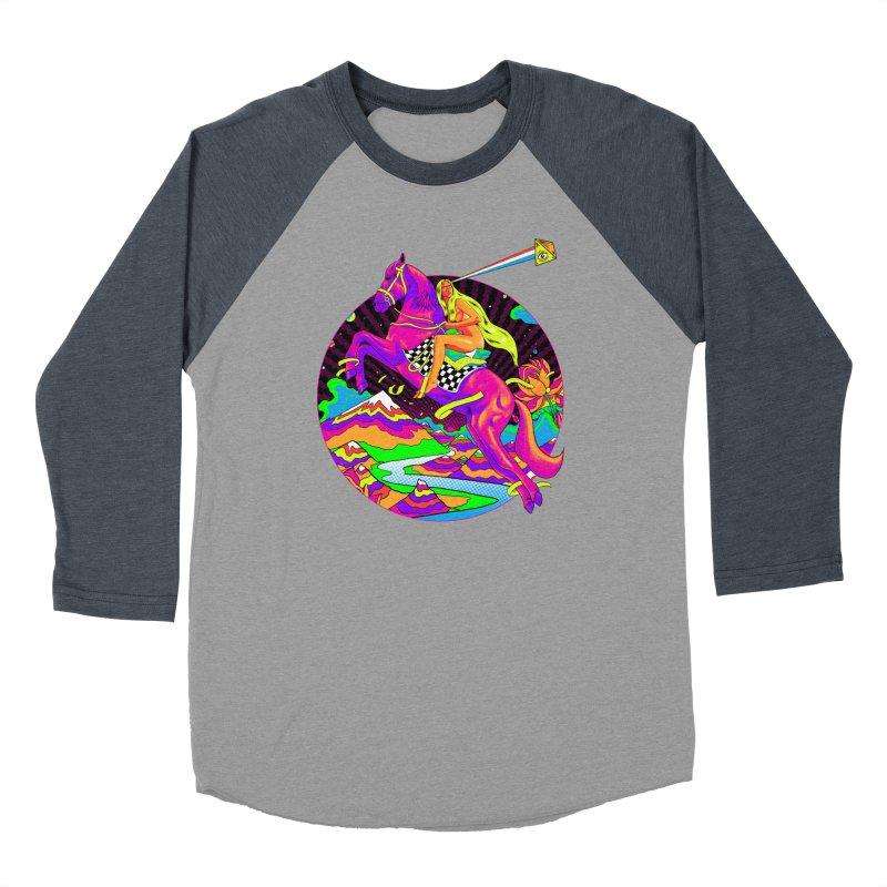 Lady Godiva - Neon Night Women's Baseball Triblend Longsleeve T-Shirt by RJ Artworks's Artist Shop