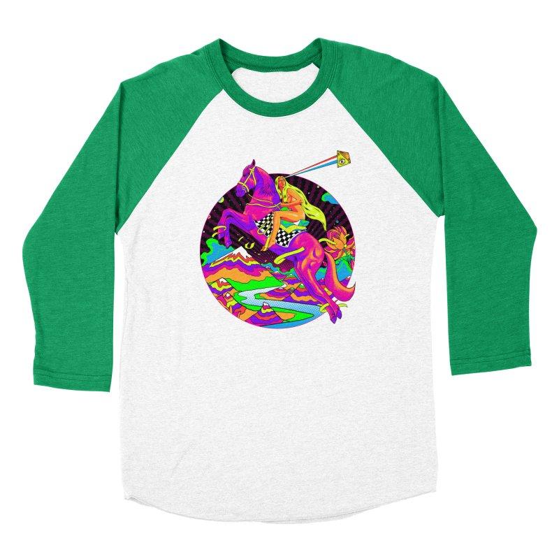 Lady Godiva - Neon Night Men's Baseball Triblend Longsleeve T-Shirt by RJ Artworks's Artist Shop